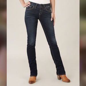 Silver jeans co suki high rise straight jeans nwts